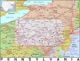 Map Of New Jersey And Pennsylvania by Pa Pennsylvania Public Domain Maps By Pat The Free Open