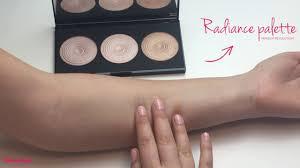 makeup revolution radiant lights swatches highlighter palette radiance makeup revolution youtube
