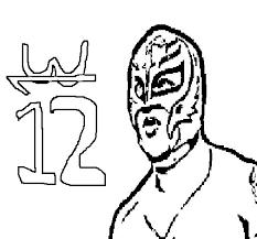 rey mysterio coloring page coloringcrew com