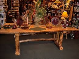 Log Dining Room Table Log Dining Table Cabin Furniture Lodge Dinette Rustic