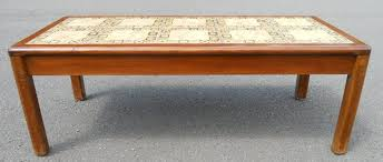 tile top coffee table walnut long tile top coffee table by nathan
