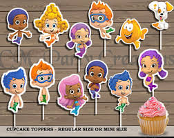 guppies cake toppers guppies cupcake etsy