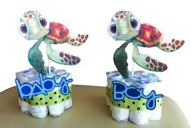 Finding Nemo Centerpieces by Mini Diaper Cakes Double Sided Finding Nemo Baby