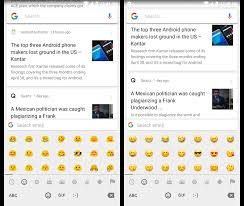 switch between different styles emojis on android