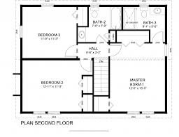 colonial floor plans simple 14 center hall colonial floor plans