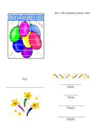 Printable Birthday Invitation Cards For Kids Printable Birthday Invitations 7 Coloring Kids