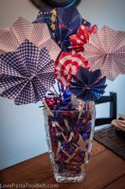 paper fireworks centerpiece love pasta and a tool belt