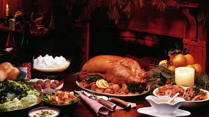 free 1920x1080 thanksgiving feast by candlelight desktop