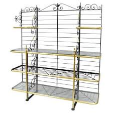 How To Decorate A Bakers Rack Home Decor Appealing Baker Racks Combine With Bakers Rack Wine