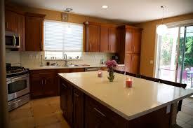 Mocha Kitchen Cabinets Mocha Shaker Cabinets U0026 Beige Quartz Countertops Castaic