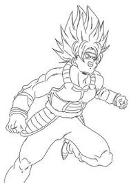 goku dragon ball anime coloring pages kids printable free
