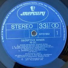 3 e bureau label 10cc deceptive bends 12 inch lp vinyl records