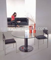 Executive Meeting Table Round Glass Meeting Table Office Discussion Table Executive