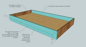 How To Build A Twin Platform Bed With Drawers by Ana White Trundle For Bed Or Storage Diy Projects