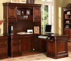 villa toscana 5 piece corner desk w hutch brown cherry leon u0027s