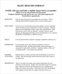 Resume Outline Template Free Basic Resume Templates Wwwresume Format Resume Format And