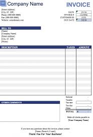 Microsoft Excel Template Free Blank Invoice Templates In Microsoft Excel Xlsx