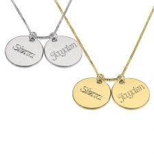 photo engraved necklace necklace with two names