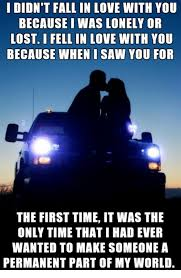 Lost Love Meme - i didn t fall in love with you because i was lonely or lost i fell