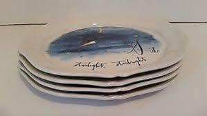 linea canapé anthropologie linea carta calligrapher s starlight canapé plates set