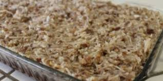 gluten free german chocolate cake with dairy free topping recipe