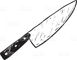 Commercial Kitchen Knives Hand Sketched Kitchen Knife Stock Vector Art 472293909 Istock