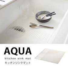 prevention of prevention of general sink mat draining board silicon kitchen sink mat aqua white