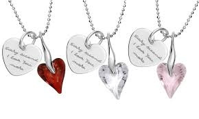 custom engraved heart necklace custom engraved heart necklace jewellshouse groupon