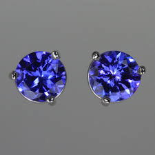 tanzanite earrings special pricing tanzanite earrings in white gold 1 35 carats