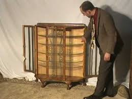 art deco china cabinet art deco china cabinet with etched curve glass curio cabinet youtube