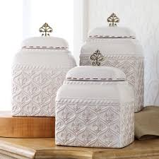 white kitchen canister sets fleur de lis ceramic kitchen canister sets for accessories ideas