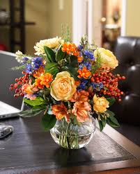 silk flower arrangements buy coral blue silk flower centerpiece at officescapesdirect
