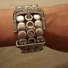 crystal buckle bracelet images Jewelry belt buckle silver crystal bracelet poshmark jpg