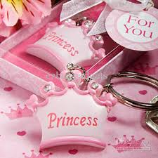 baby shower keychain favors pink crown shaped keychain favors key ring key chain for baby