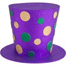 mardi gras hat 8 glitter dot mardi gras top hat hg102830 craftoutlet