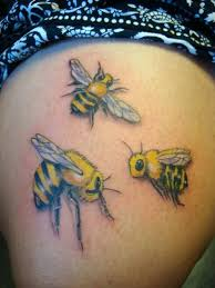 bee tattoo art and designs page 43