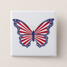 white blue patriotic butterflies gifts on zazzle