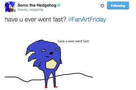 Sonic The Hedgehog Meme - the official sonic the hedgehog twitter lost its mind in 2015 and it