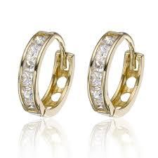 9ct gold hoop earrings 9ct gold cubic zirconia hoop earrings 0000503 beaverbrooks the