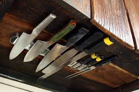 how to store kitchen knives clever idea store knives the cabinet to allow more counter