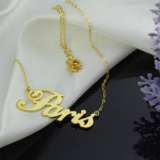 Gold Plated Name Necklace 18k Gold Plating Name Necklace