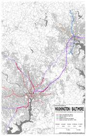 Vre Map 4 Washington U2013 Baltimore Intermodality