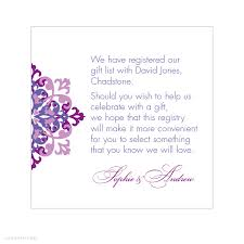 gift card registry wedding wording for wedding invitations for gift cards lading for