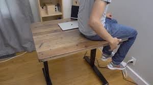 Stand Up Sit Down Desks by Hands On Uplift Adjustable Height Standing Desk Features Real