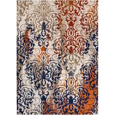 Damask Rugs Well Woven Luxbury Damask Multi 7 Ft 10 In X 10 Ft 6 In Modern