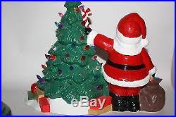 cramer 1979 ceramic christmas tree glo plug santa with base rare