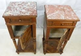 marble top bedside table marble top bedside table two marble top walnut french bedside