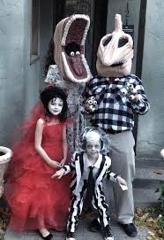 Lydia Deetz Costume Family Dressed As Beetlejuice Characters For Halloween