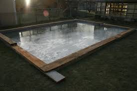 Backyard Ice Skating Rink Backyard Ice Rink Diy