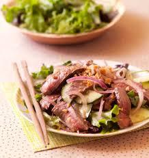 recette de cuisine thailandaise salade thaï au boeuf et concombre les meilleures recettes de